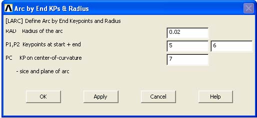 Radius Arc popup Windows